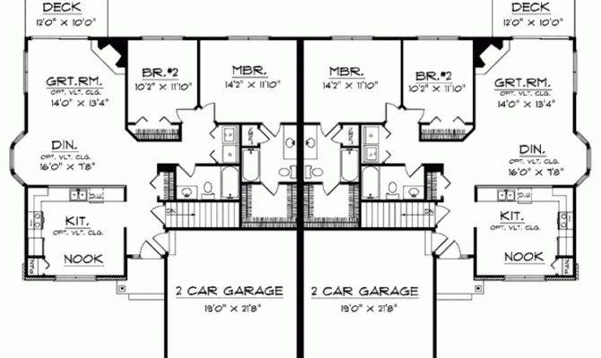 Eplans Cottage House Plan Ranch Bungalow Duplex Square Feet