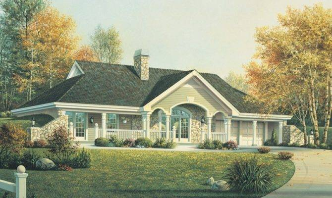 Eplans Country House Plan Earth Berm Home Style