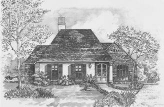 Eplans French Country House Plan Exterior Charm Square Feet