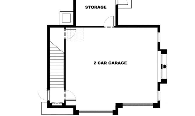Eplans Garage Plan Mediterranean One Bedroom Apartment