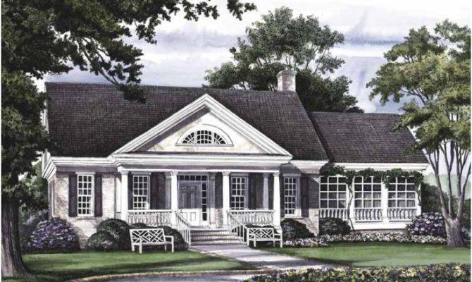 Eplans Greek Revival House Plan Carlyle Square Feet