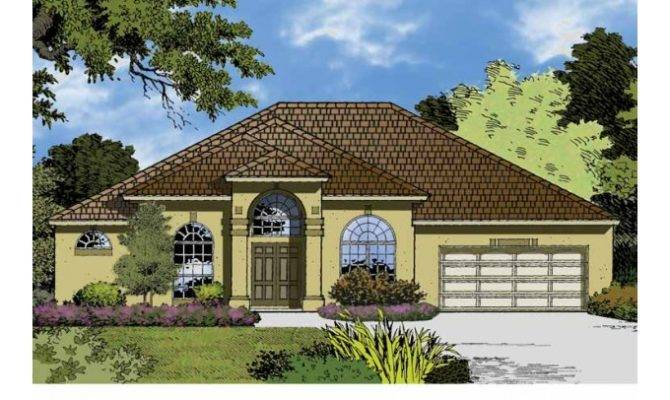 Eplans Mediterranean House Plan Majestic Ranch Square Feet