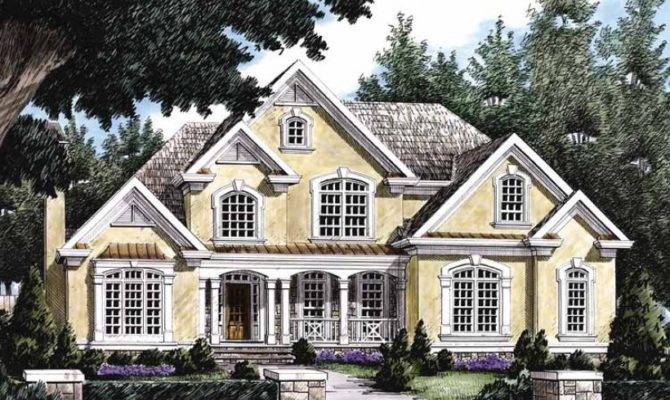 Eplans New American House Plan Lavish Amenities Square Feet