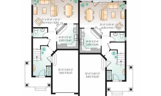 Eplans New American House Plan Style Duplex Home