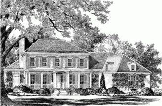 Eplans Plantation House Plan Avington Place Southern Living