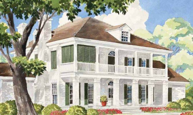 Eplans Plantation House Plan Sterett Springs Southern