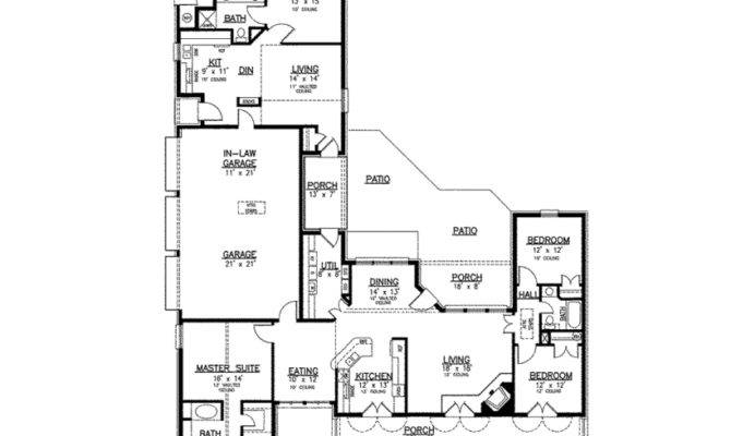 Eplans Southern House Plan Separate Apartment Main Level