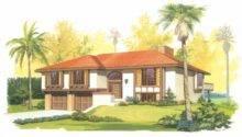 Eplans Spanish House Plan Multi Level Living Square