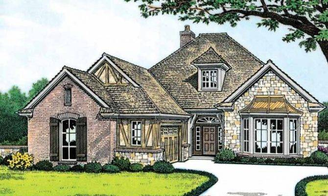Eplans Tudor House Plan Meets English Cottage Square