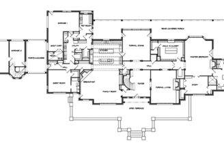 European House Plan First Floor Plans More