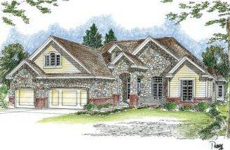 European House Plan Hillside Plans Pinterest