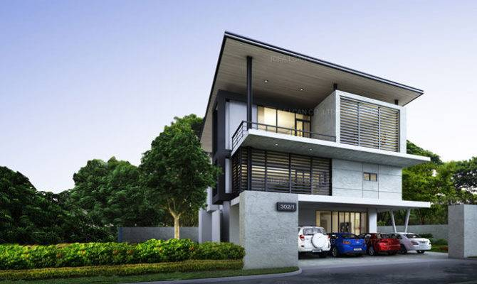 Example Modern House Designs Two Story Plans