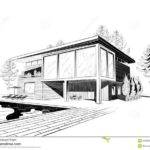 Excellent Modern Home Architecture Sketches Design Vector