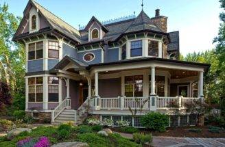 Exotic Asymmetrical American Victorian Home Design Style One