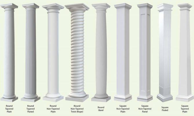 Exterior Fiberglass Columns