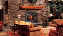 Exterior Rustic Home Interior Design Masonry Firerock Fireplace