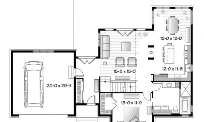 Farmhouse House Plan Country First Floor Master