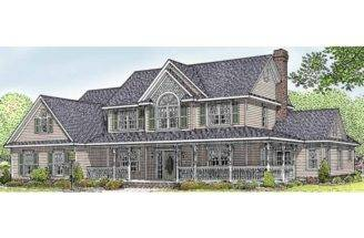 Farmhouse House Plan Square Feet Bedrooms Dream