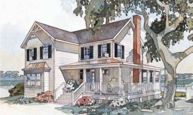 Farmhouse House Plan Windsong Cottage Southern Living