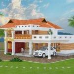 Feet Beautiful Villa Design Kerala Home Floor