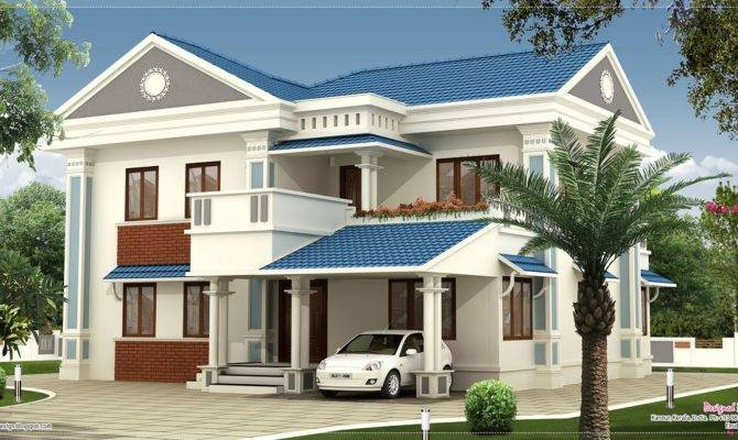 Feet Beautiful Villa Elevation Design House Plans