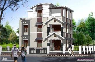 Feet Storey Villa Cents Kerala Home Design Floor Plans