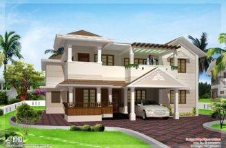 Feet Two Floor House Design Plans