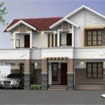 Feet Two Storey House Elevation Kerala Home Design Floor Plans