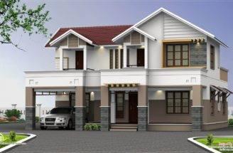 Feet Two Storey House Elevation Kerala Home Design Floor Plans