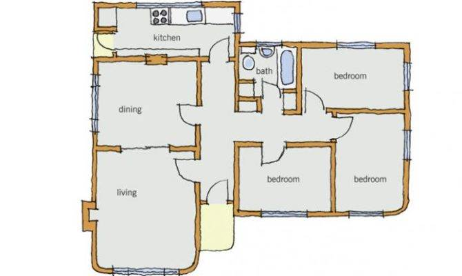 Figure Typical Art Deco House Floor Plan