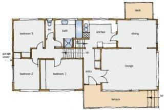 Figure Typical Split Level House Plan Main Floor