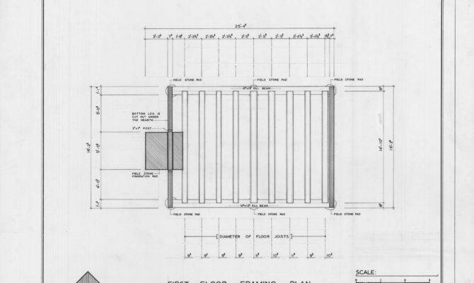 First Floor Framing Plan Coffey Log House Pineville North Carolina