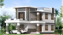 Flat Roof Home Design Kerala Floor Plans