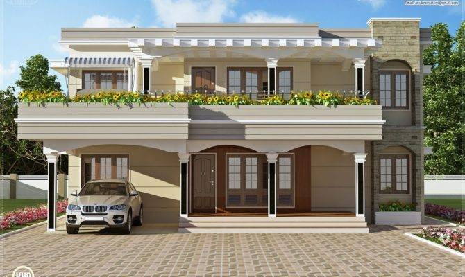 Flat Roof Villa Feet Kerala Home Design Floor Plans