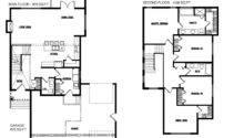 Floor Plan Design Small Contemporary House Blue