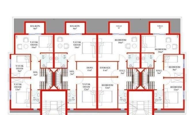 Floor Plan First Second Top