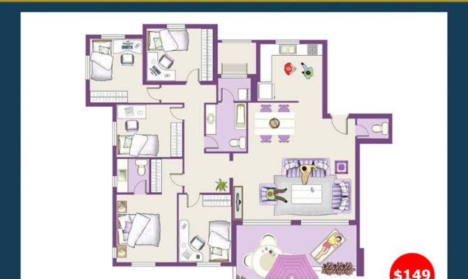 Floor Plan Layout Design House Graphic