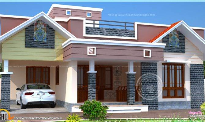 Floor Plan Modern Single Home Indian House Plans