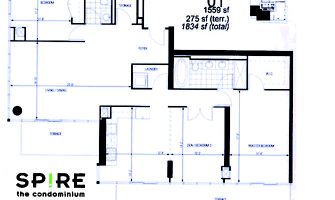 Floor Plan Sub Penthouse Bedroom Den