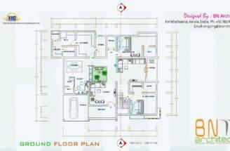 Floor Plan Views Interiors Bedroom Villa House Design
