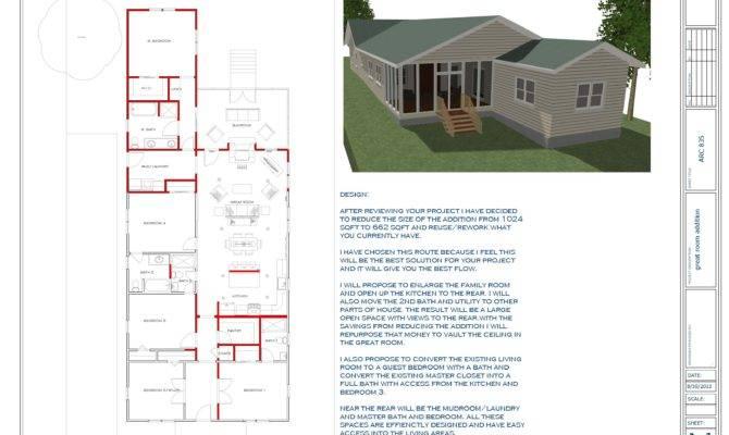 Floor Plans Designed Touyer Lee Great Room Addition Remodel