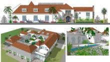 Floor Plans Mexican Hacienda House Home