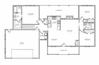 Floorplan Small Single Level Ranch Houseplan House Plan