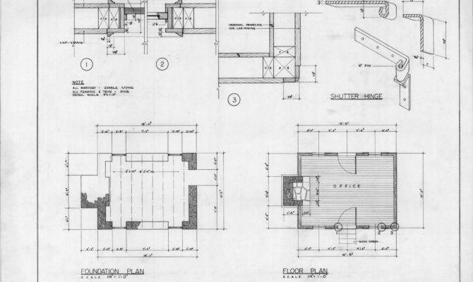 Foundation Plan Floor Details Thomas Ruffin Law Office