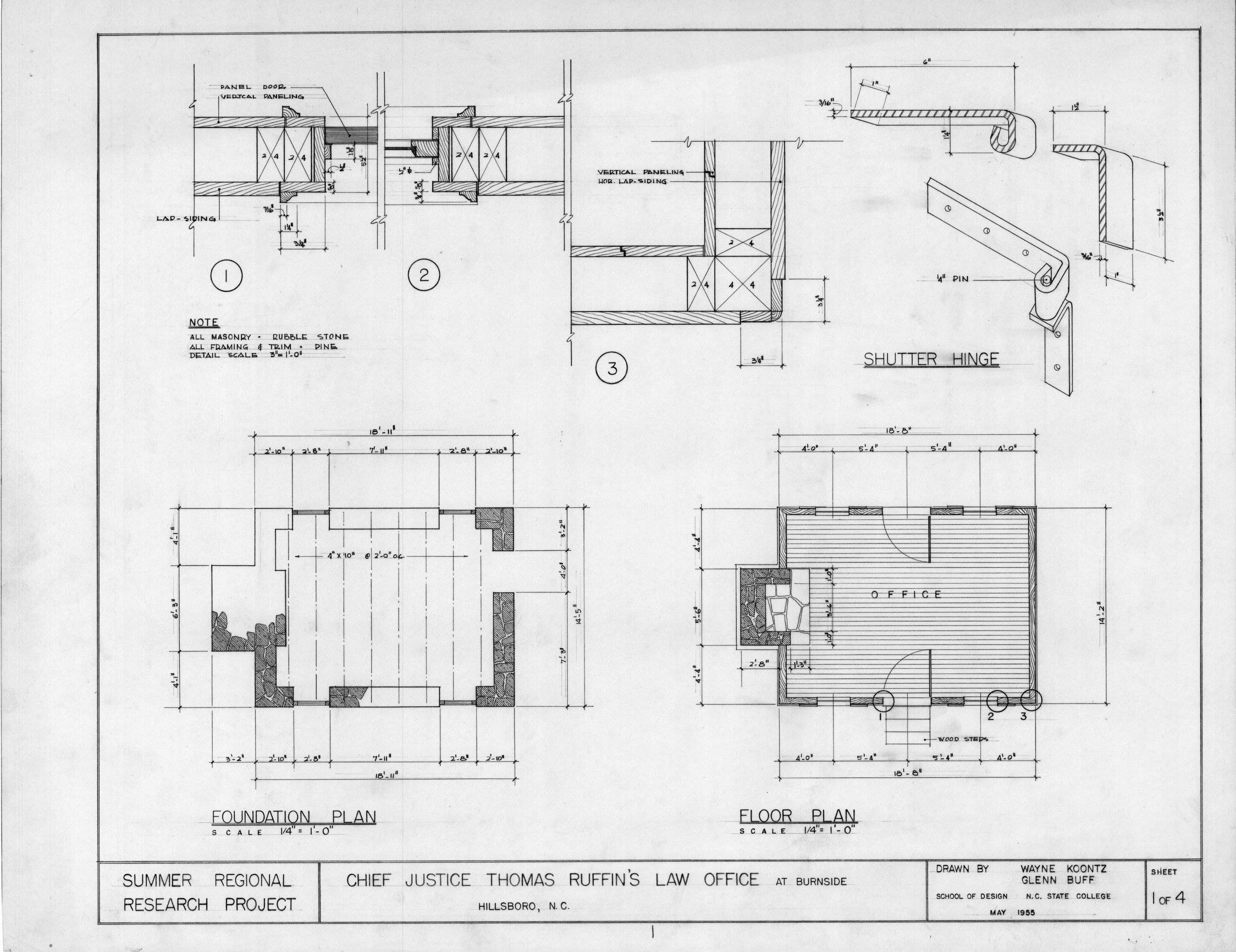 Foundation Plan Floor Details Thomas Ruffin Law Office - Home ...