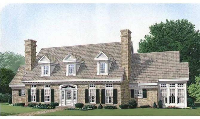 Four Bedroom Hwbdo Colonial Builderhouseplans