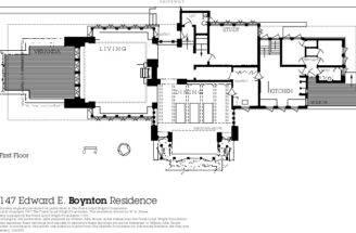 Frank Lloyd Wright House Excerpt Residential Floor Plans