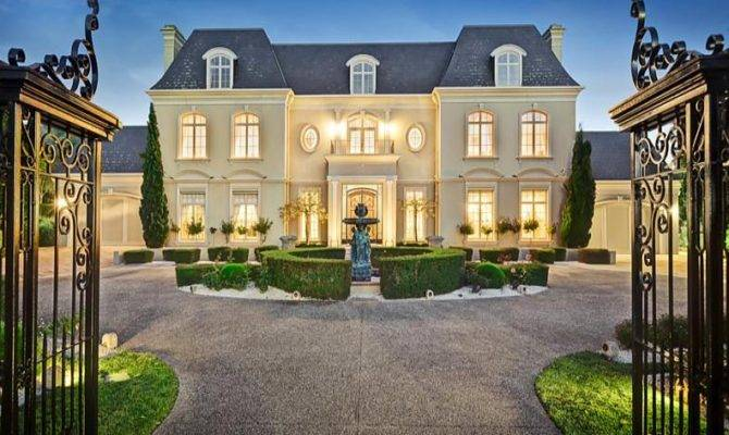 French Chateau Style Gated Mansion Victoria Australia Homes