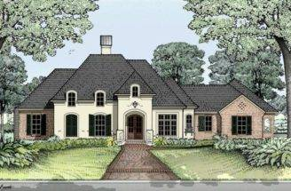 French Country Home Style Design House Plan