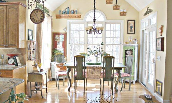 French Country Kitchen Style Freshened Debbiedoo